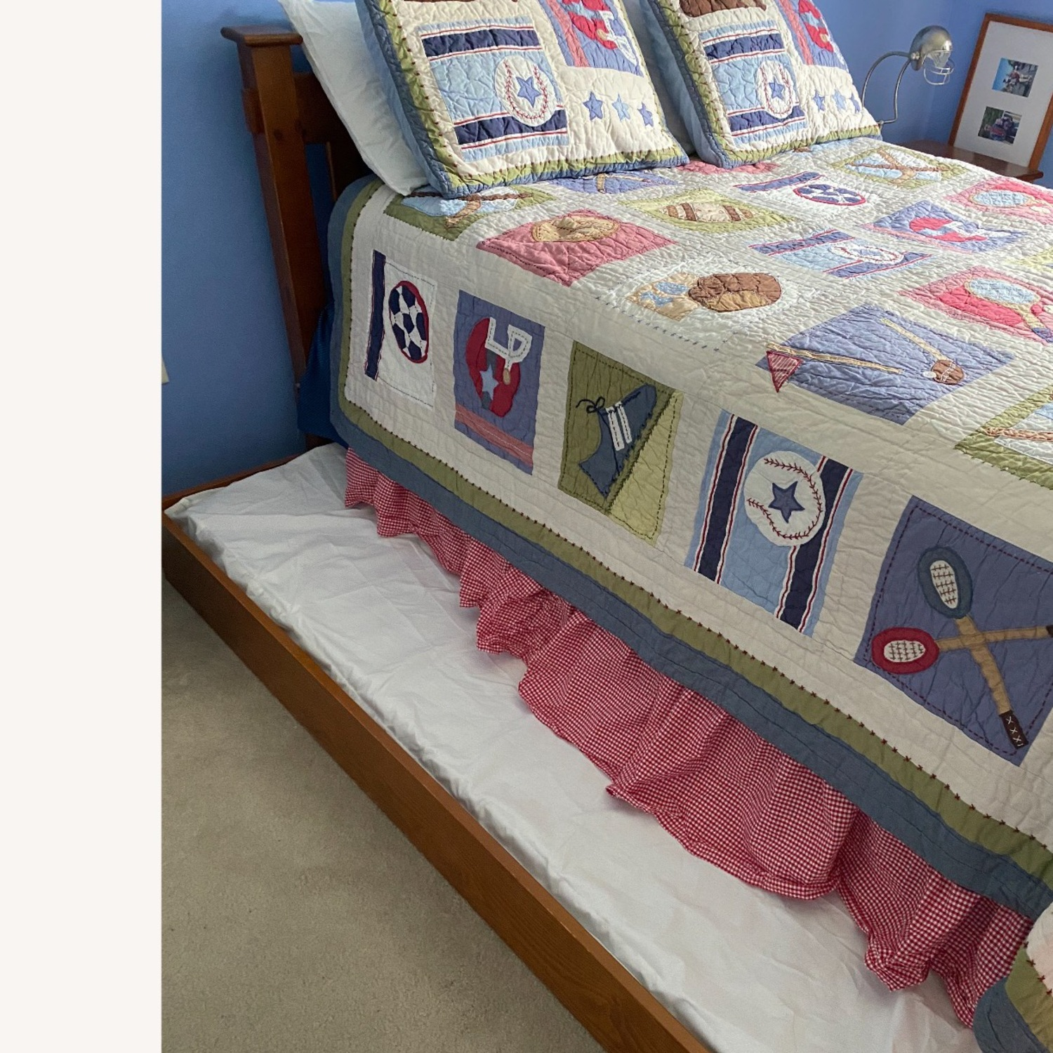 Pottery Barn Kids Full Size Bed and Trundle - image-5