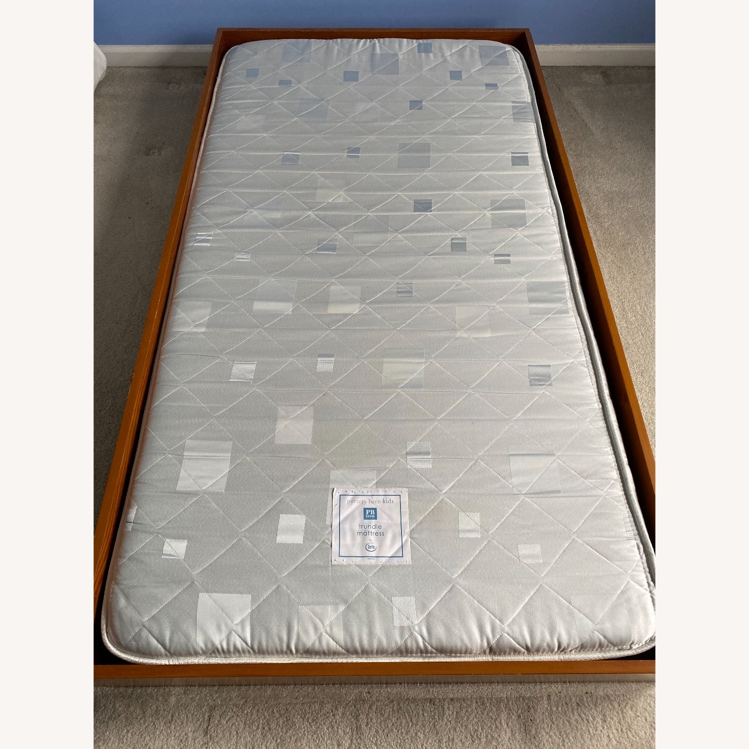 Pottery Barn Kids Full Size Bed and Trundle - image-3