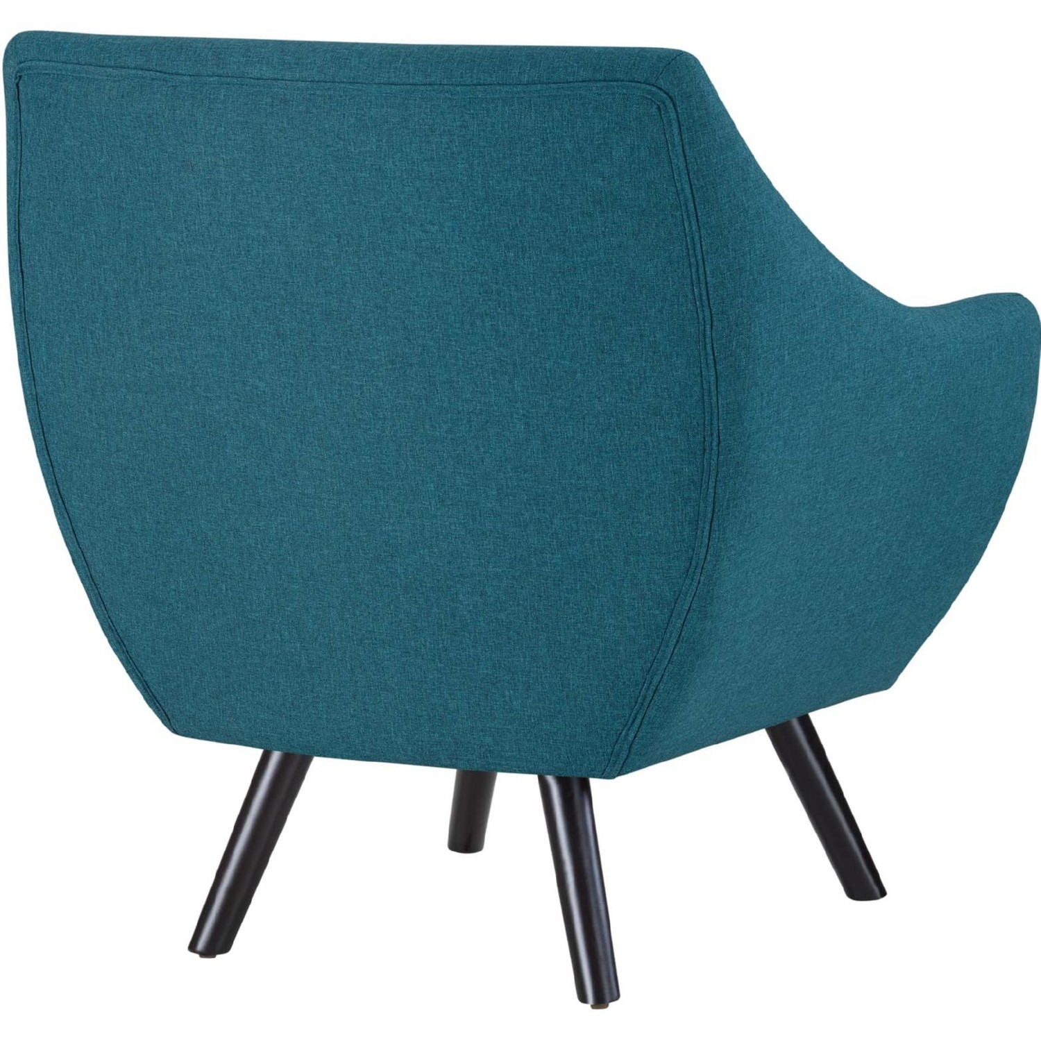 Armchair In Teal Fabric W/ Tufted Buttons - image-3