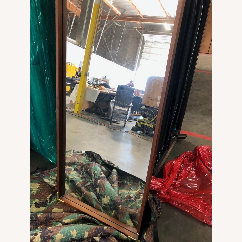 Wood Frame Floor Mirror - image-1