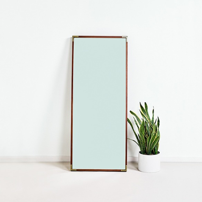 Wood Frame Floor Mirror - image-4