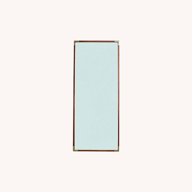 Wood Frame Floor Mirror - image-0