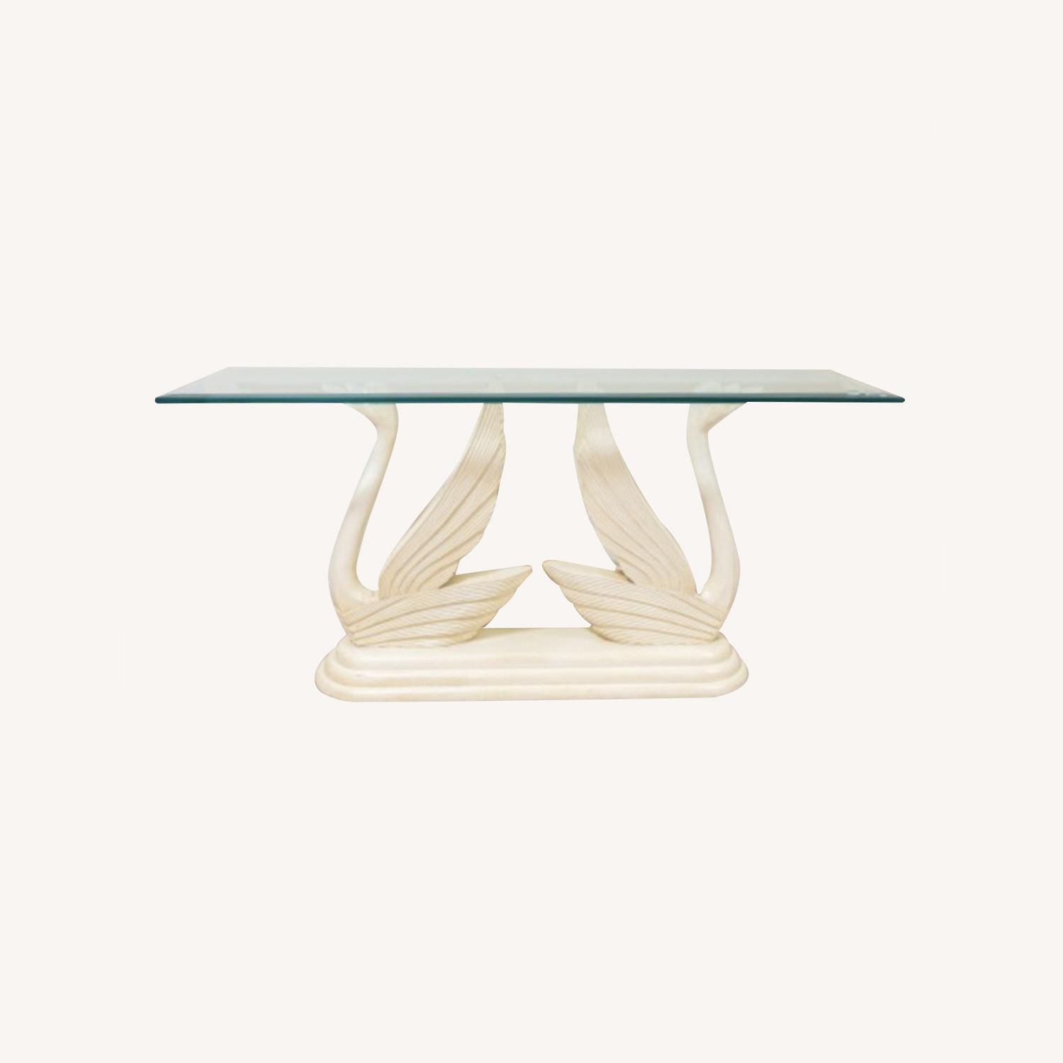 Swan Glass Top Console Table - image-0