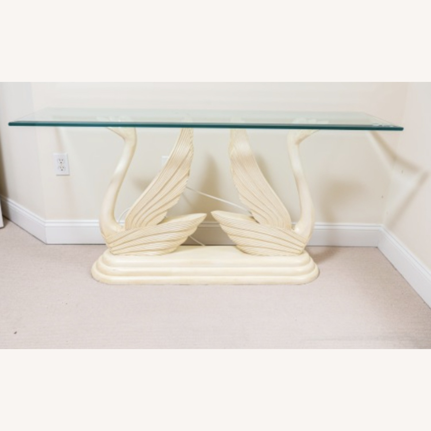Swan Glass Top Console Table - image-2