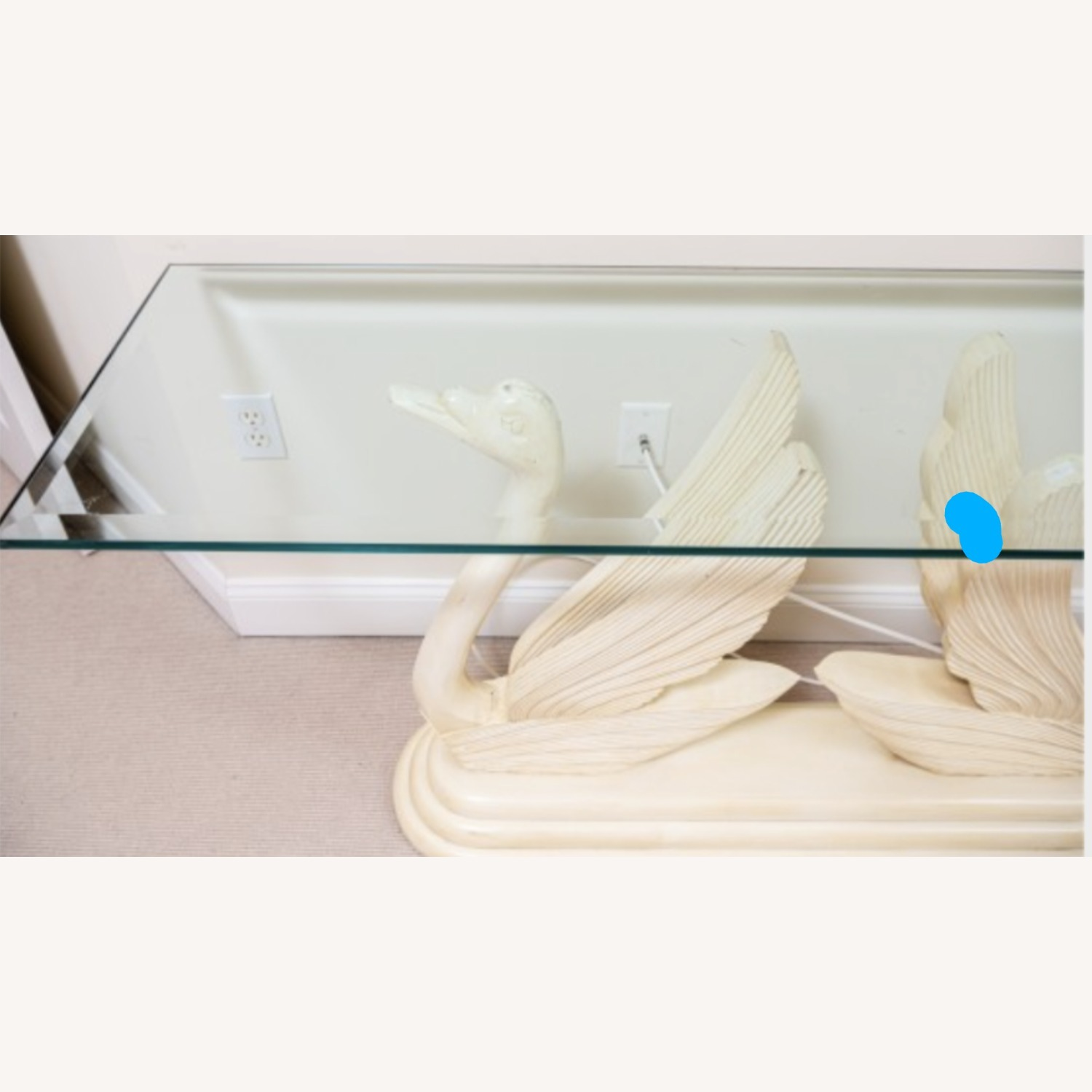 Swan Glass Top Console Table - image-4