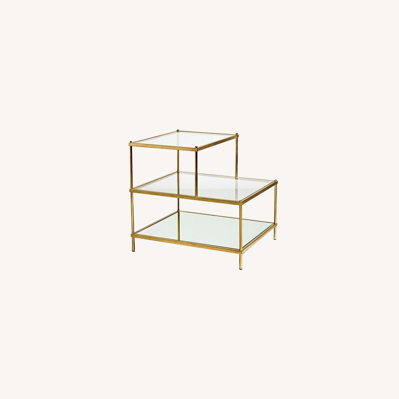 Metal/Glass Side Table - image-0