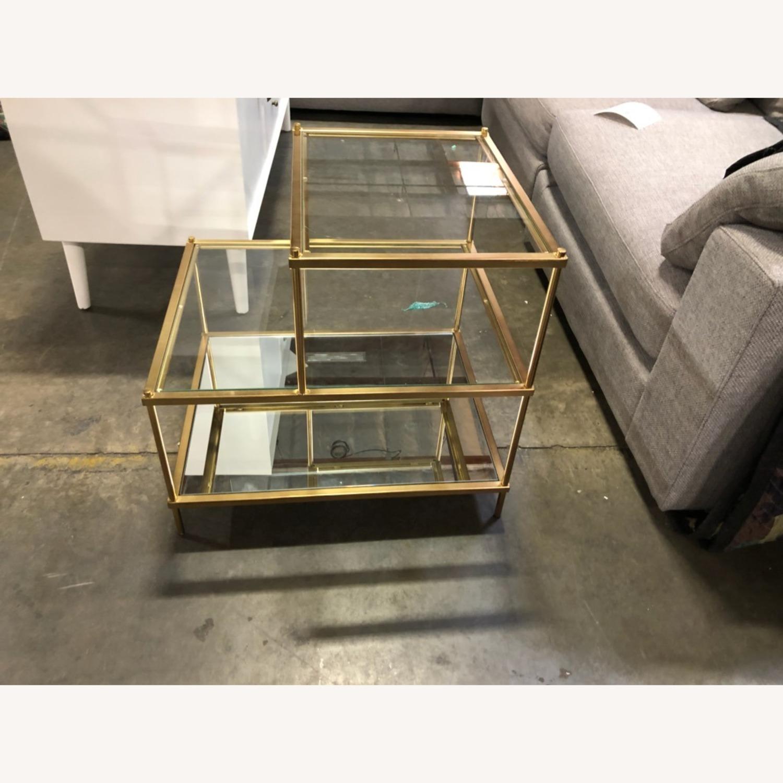 Metal/Glass Side Table - image-2
