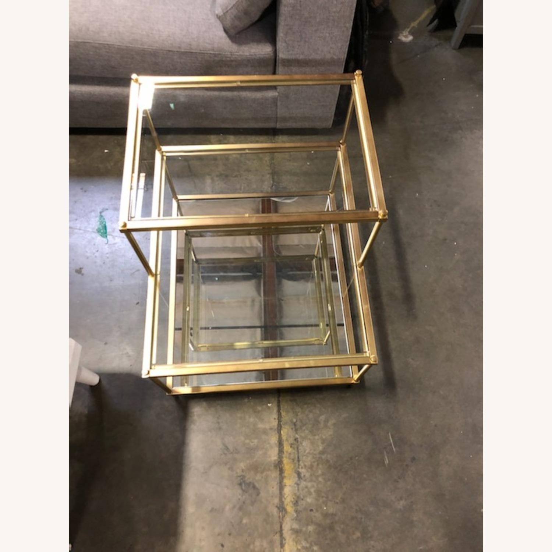 Metal/Glass Side Table - image-1
