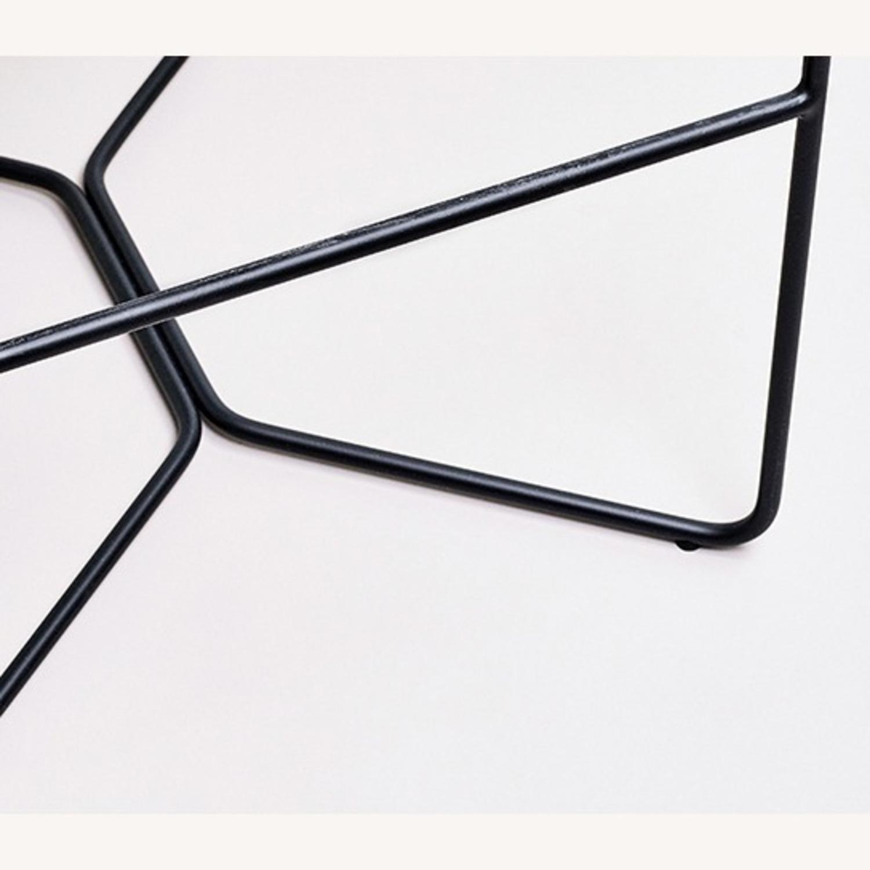 Leather Seat Metal Leg Bar Stool - image-3
