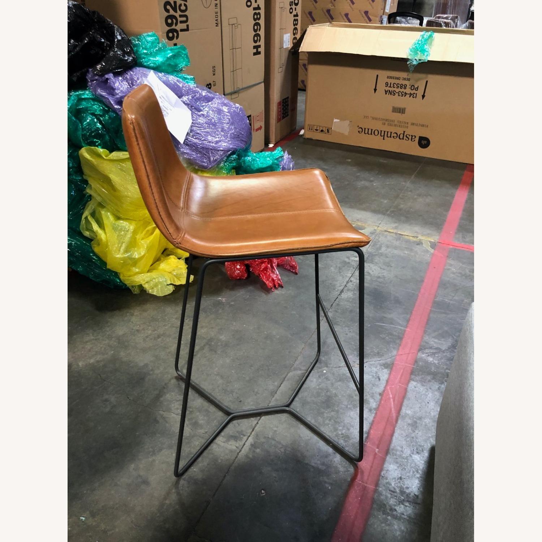 Leather Seat Metal Leg Bar Stool - image-4