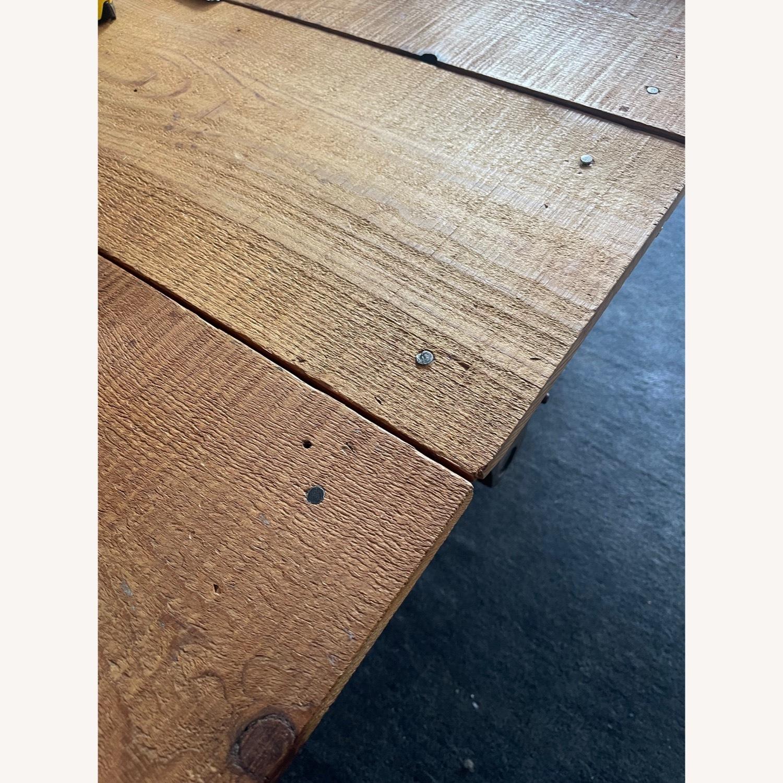 Vintage Industrial Railroad Cart Coffee Table - image-5