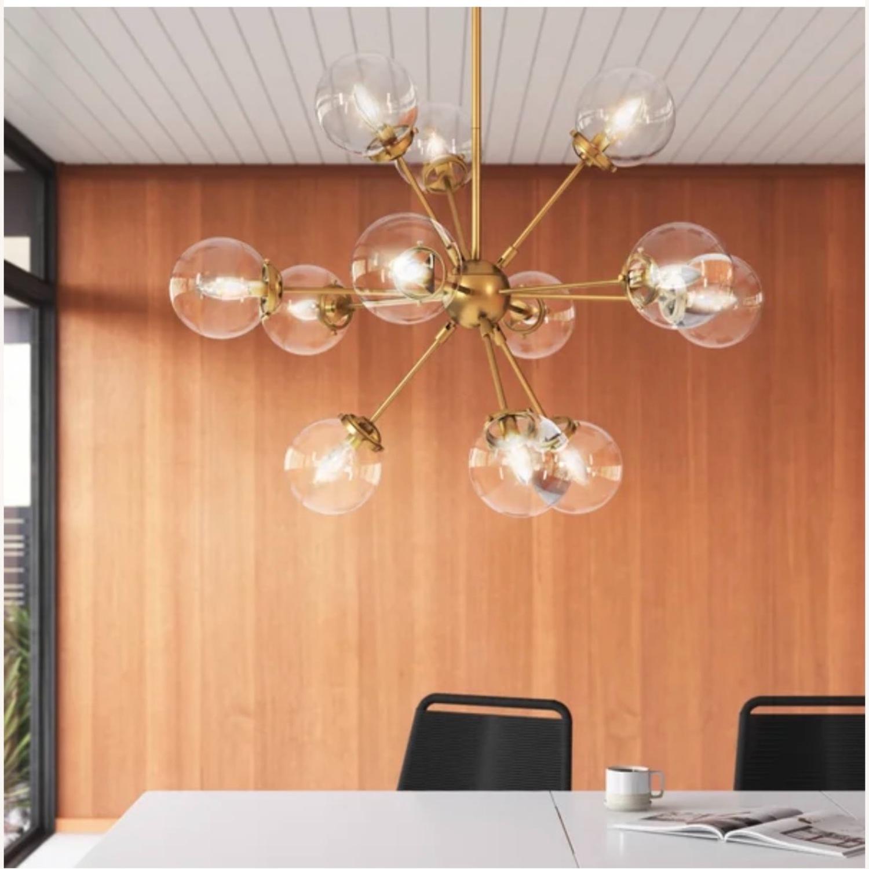 AllModern Gold Sputnik chandelier 12 bulb - image-1