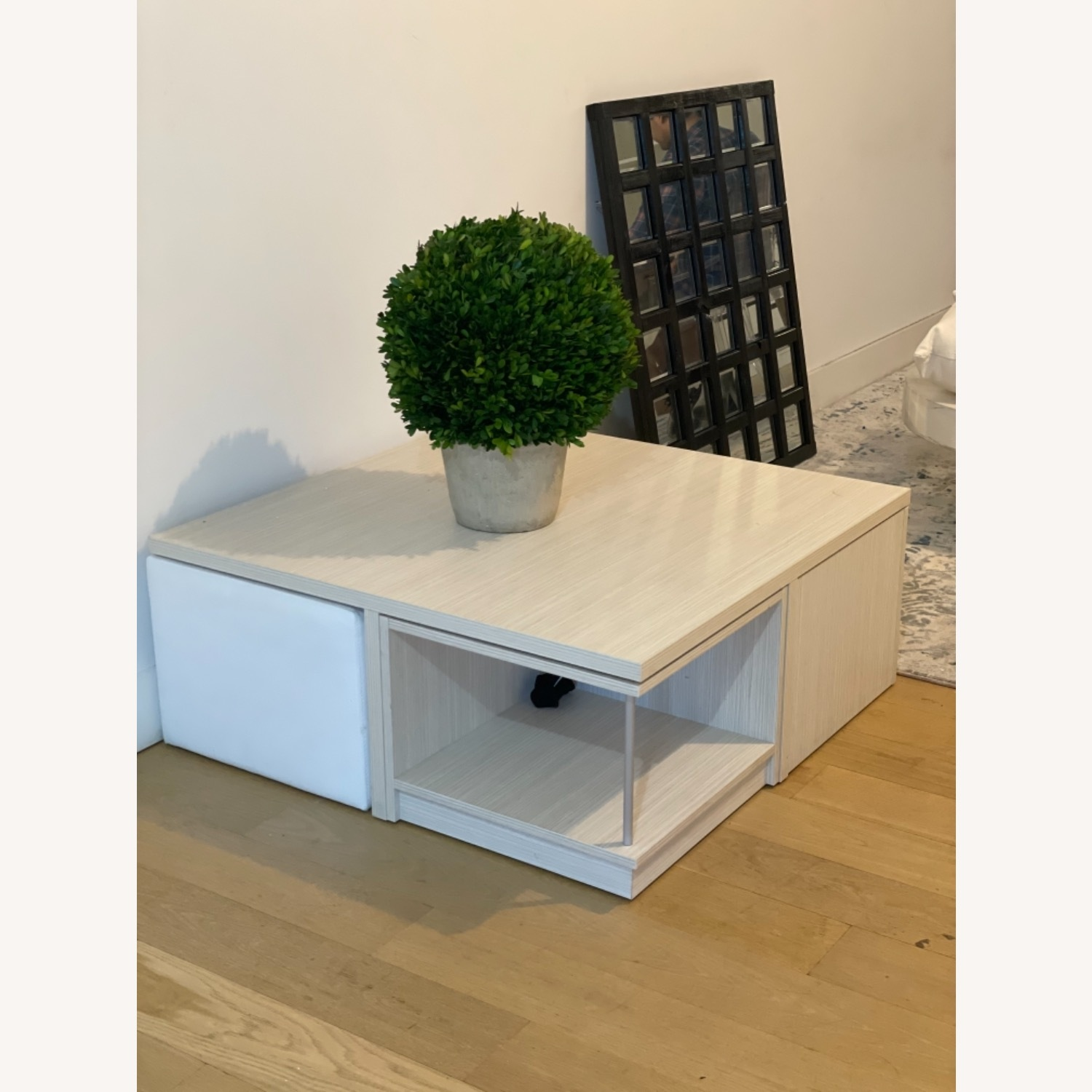 Modani Wooden Coffee Table with Ottoman Stools - image-3