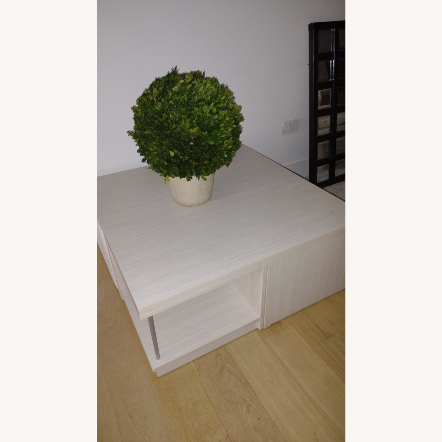 Modani Wooden Coffee Table with Ottoman Stools - image-1