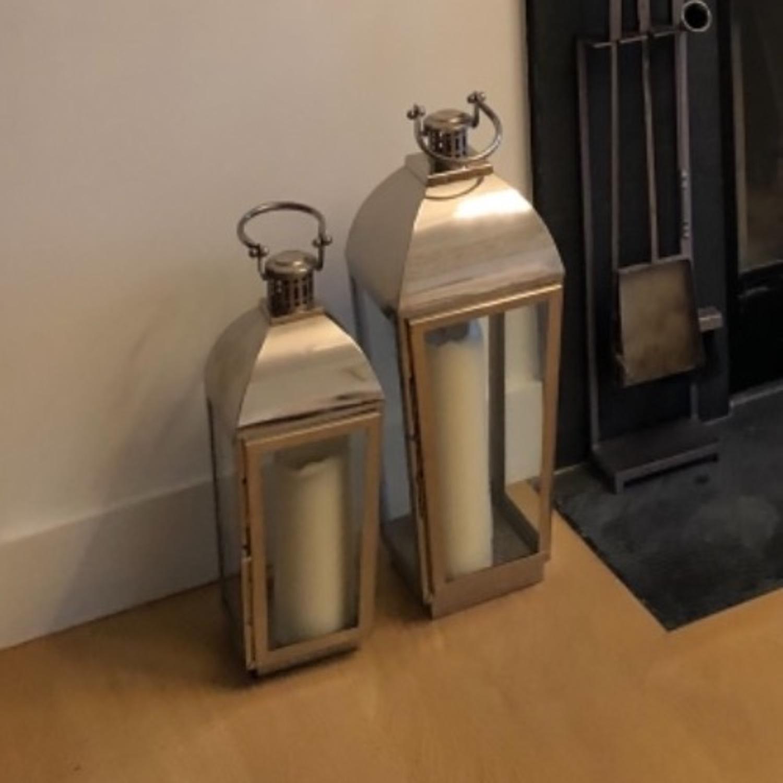 2 Restoration Hardware Trieste Lanters Silver - image-3