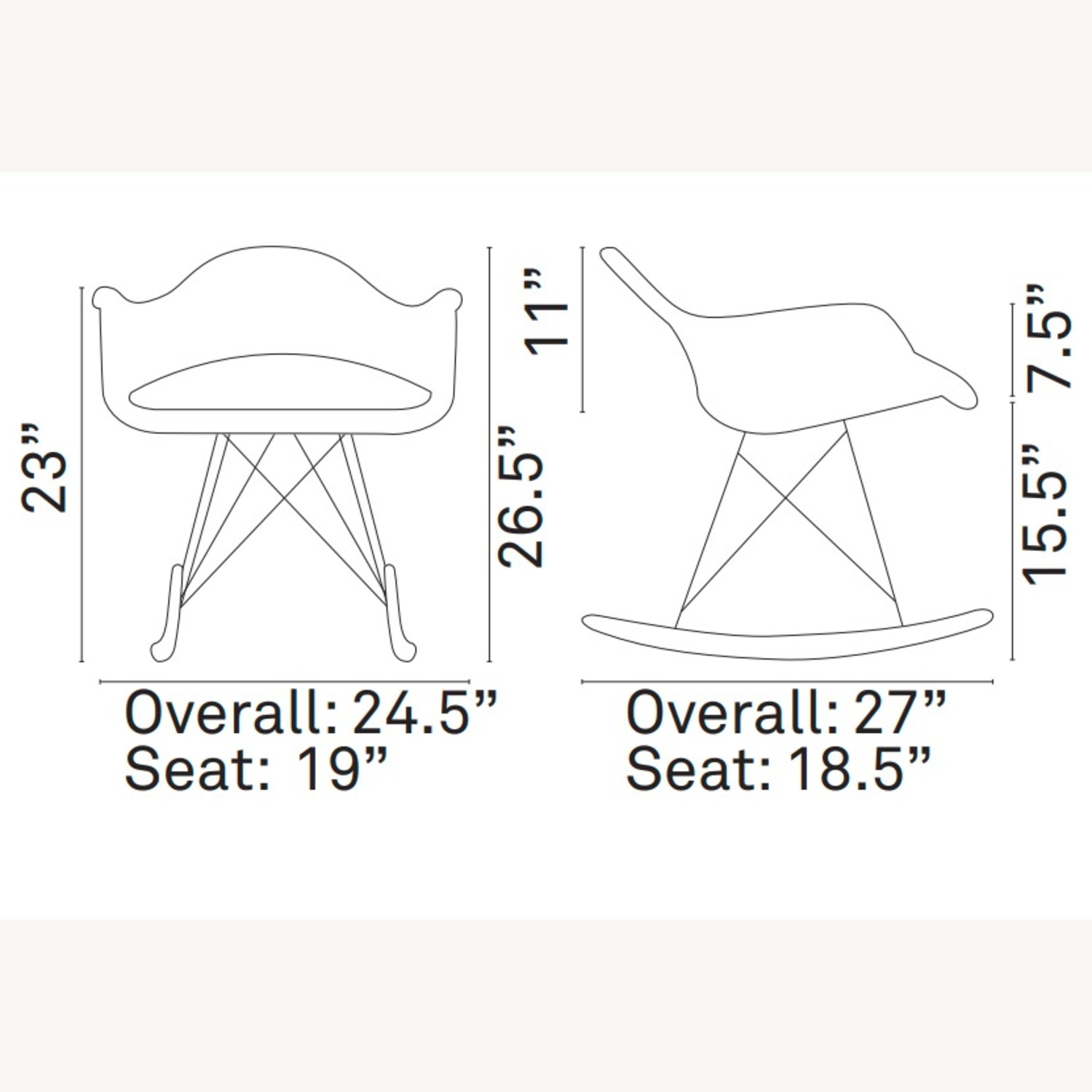 Accent Chair In White Plastic W/ Chrome Finish - image-5