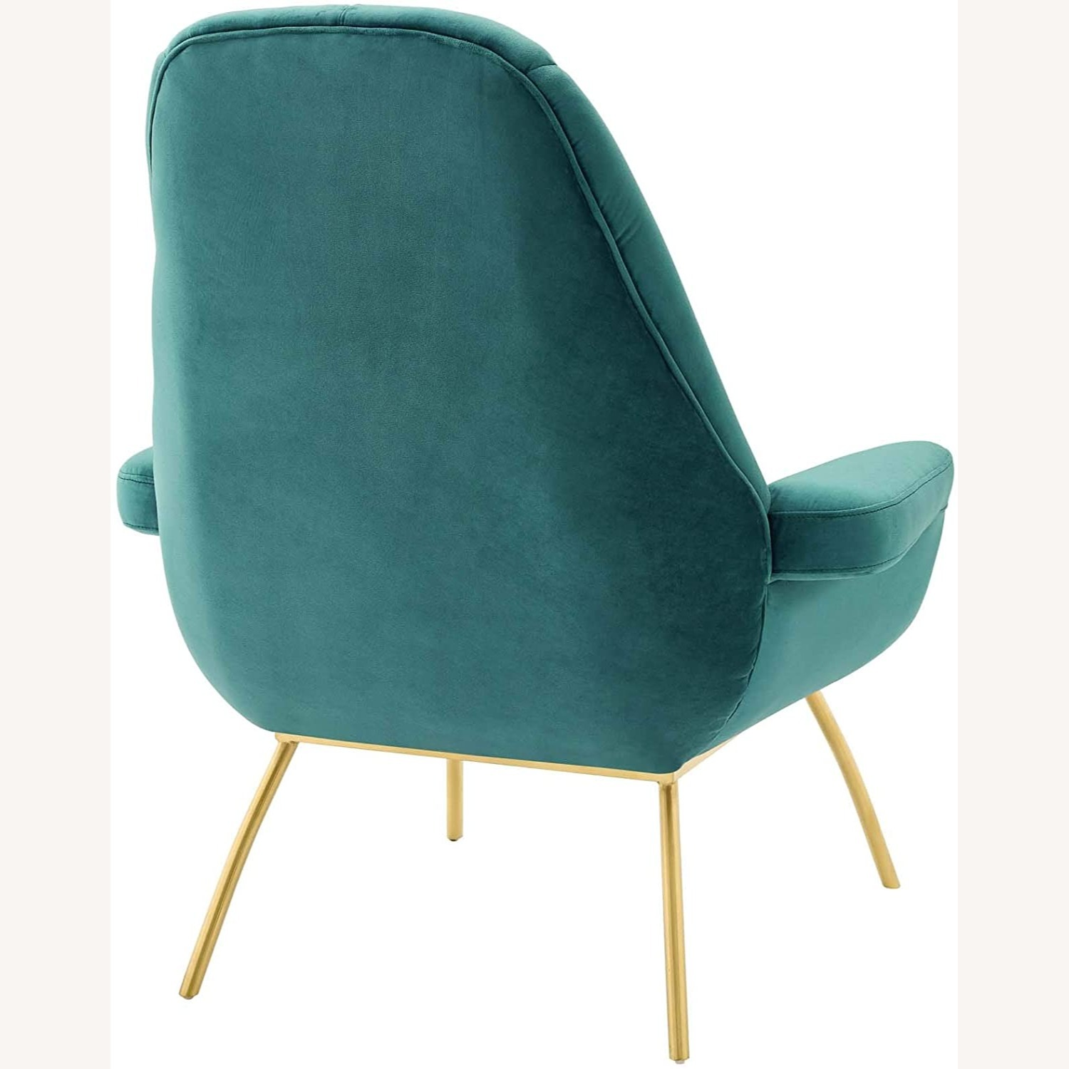 Accent Chair In Teal Velvet Upholstery Finish - image-2