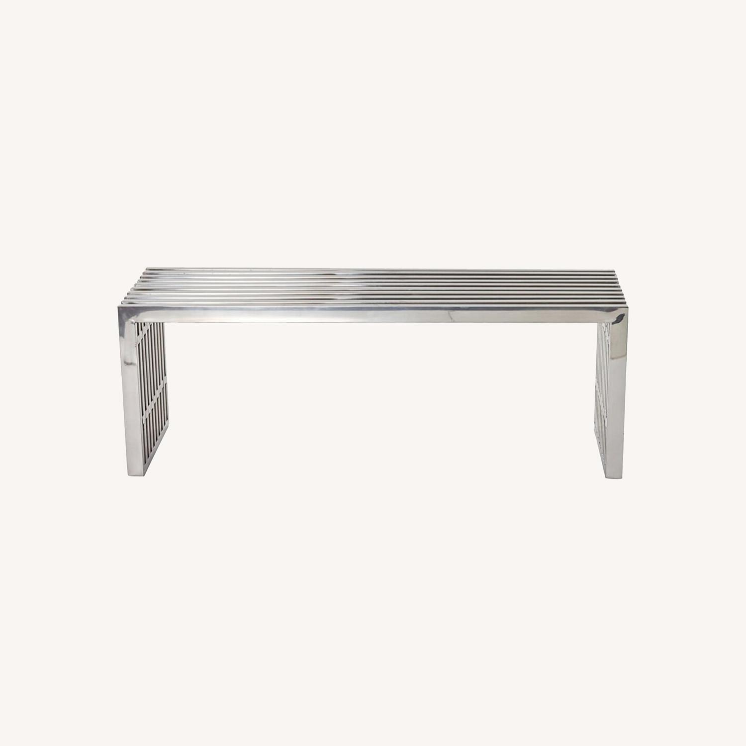 Bench In Silver Medium Stainless Steel Finish - image-5