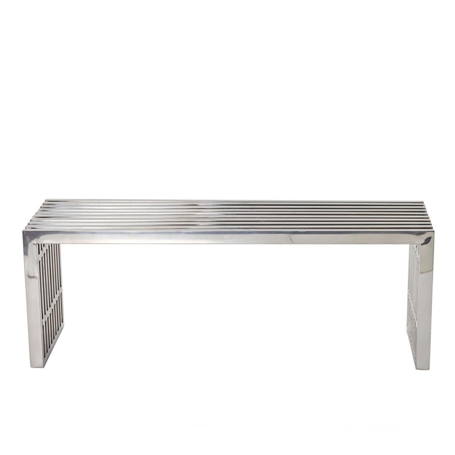 Bench In Silver Medium Stainless Steel Finish - image-0