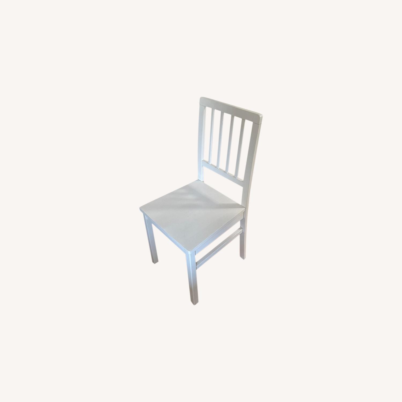 Wayfair 6 White Dining Chairs - image-0
