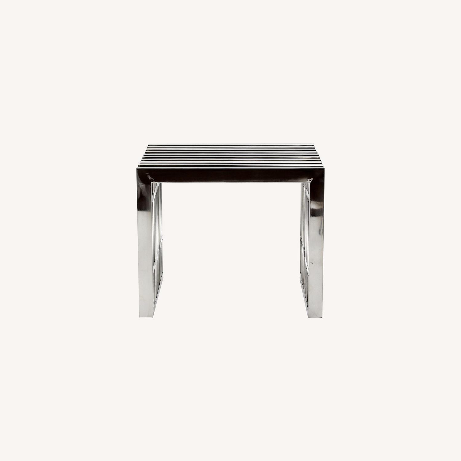 Bench In Silver Small Stainless Steel Finish - image-5