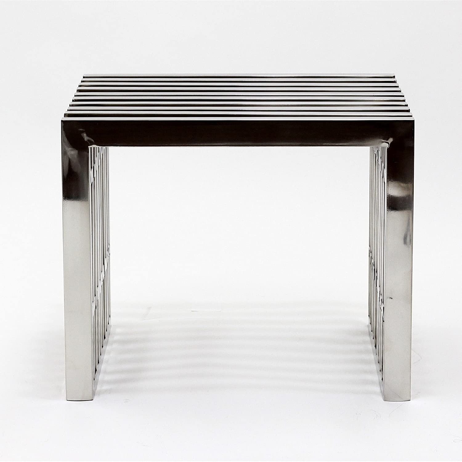 Bench In Silver Small Stainless Steel Finish - image-1