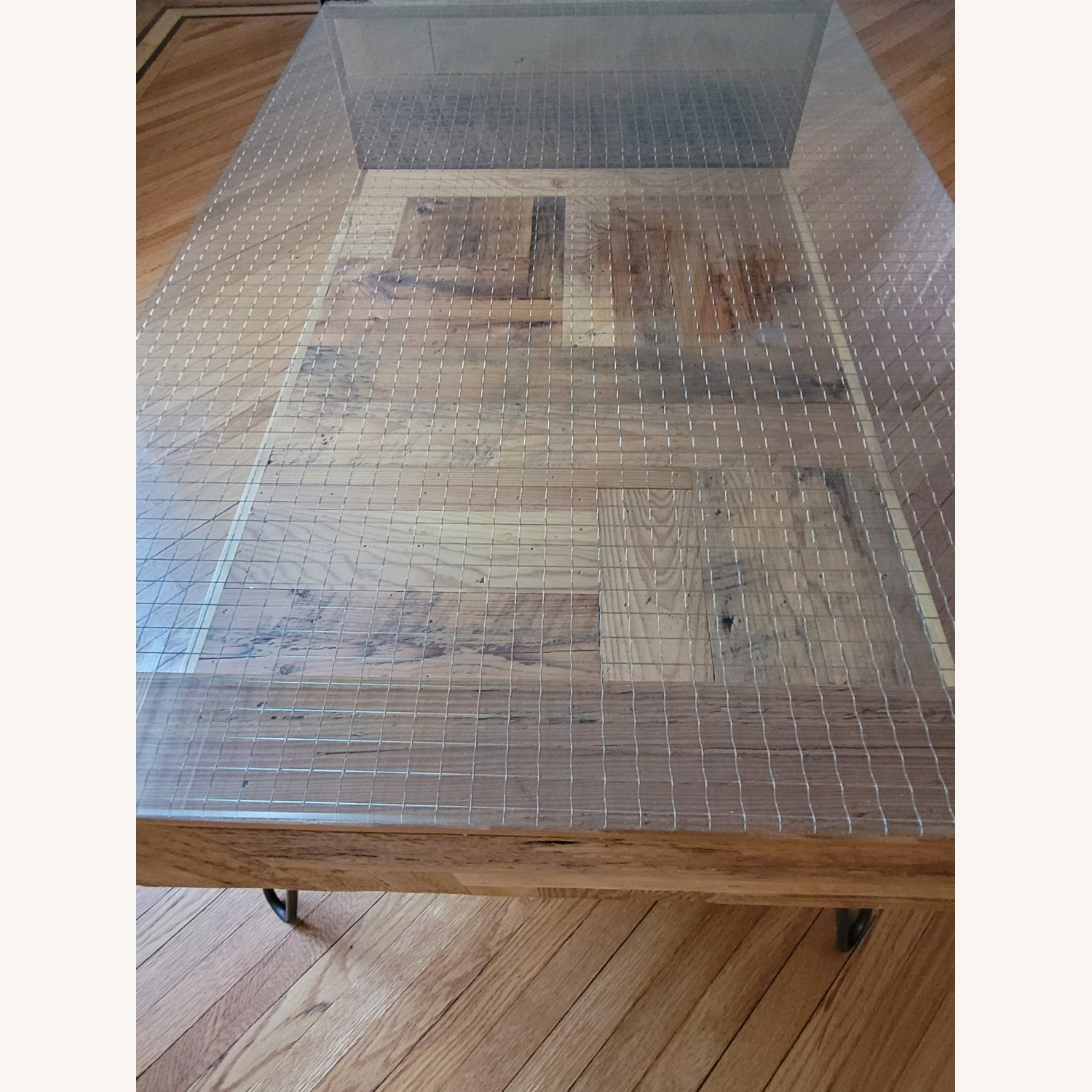 Square Wire Glass Coffee Table - image-2