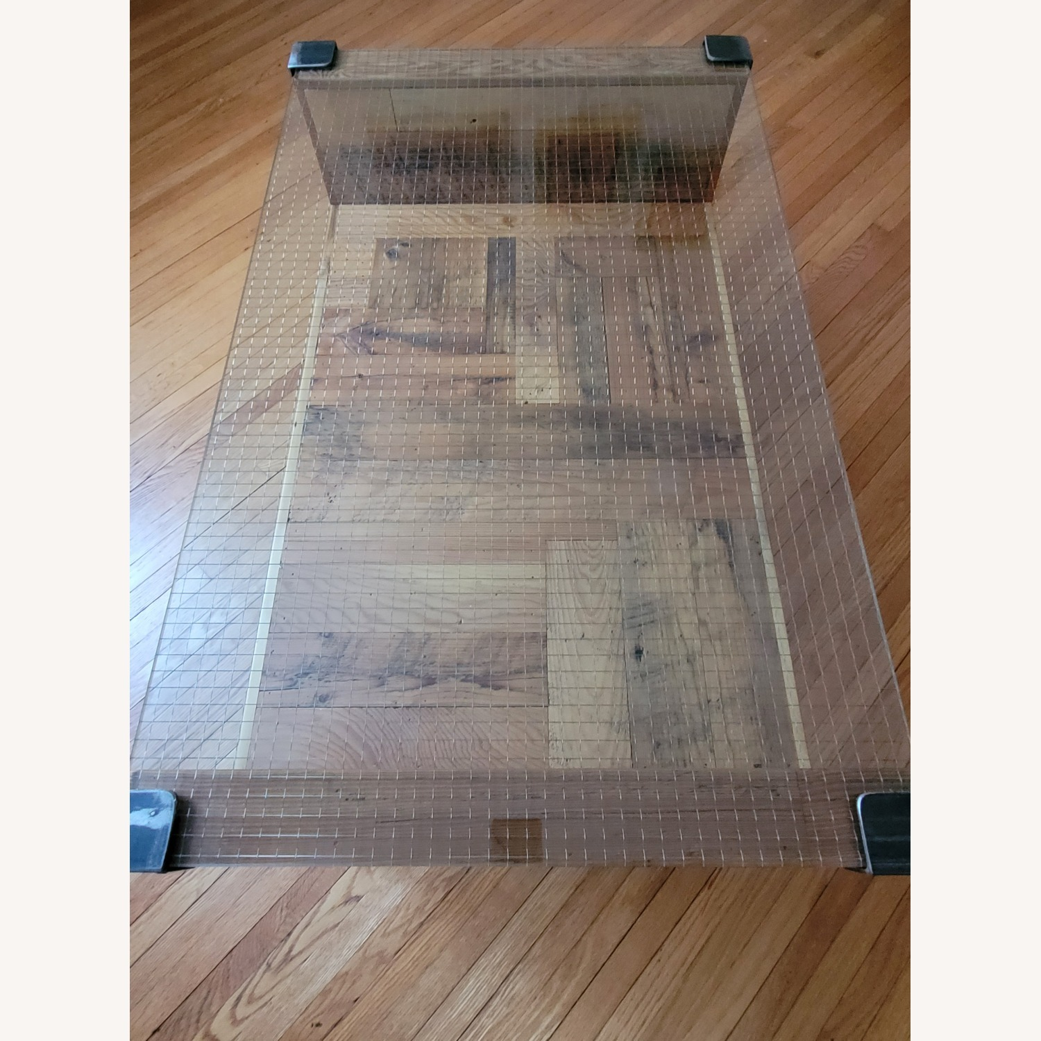 Square Wire Glass Coffee Table - image-3