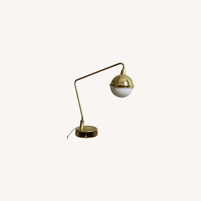 Anthropologie Anchored Orb Brass Task Lamp - image-0