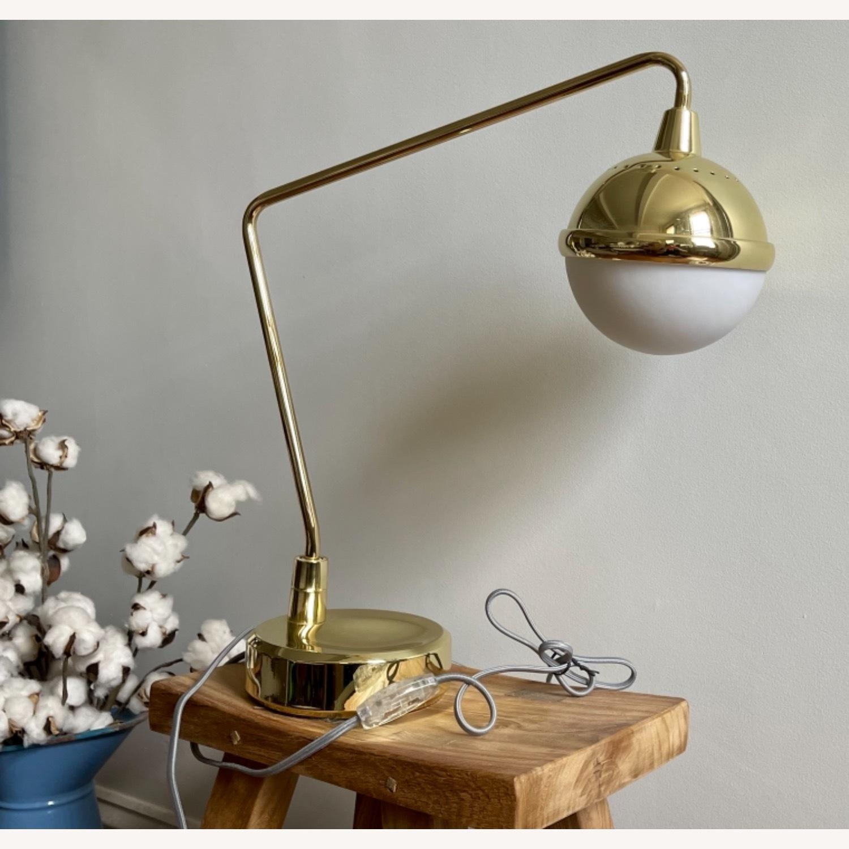 Anthropologie Anchored Orb Brass Task Lamp - image-3