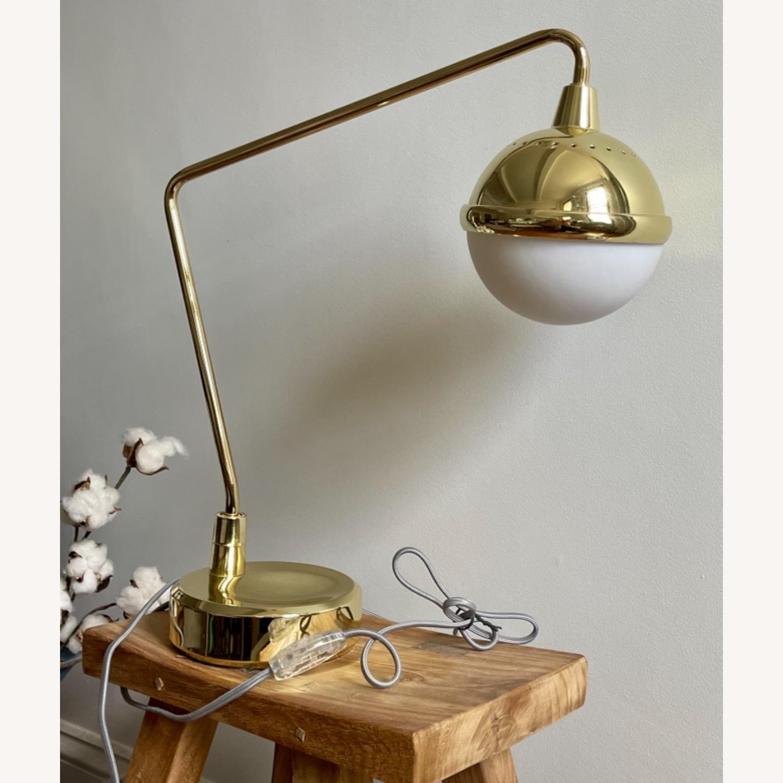 Anthropologie Anchored Orb Brass Task Lamp - image-1