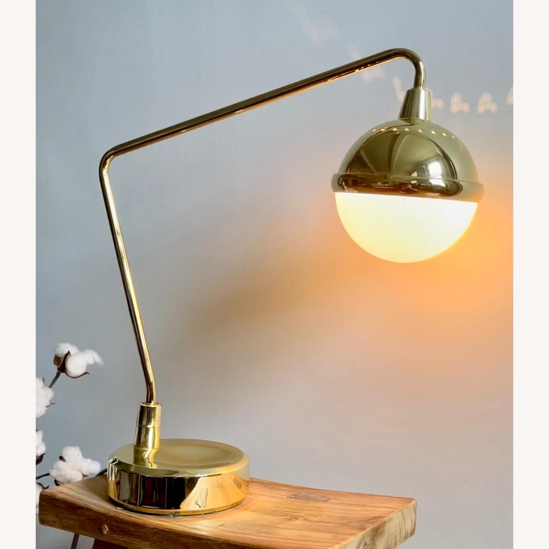 Anthropologie Anchored Orb Brass Task Lamp - image-2