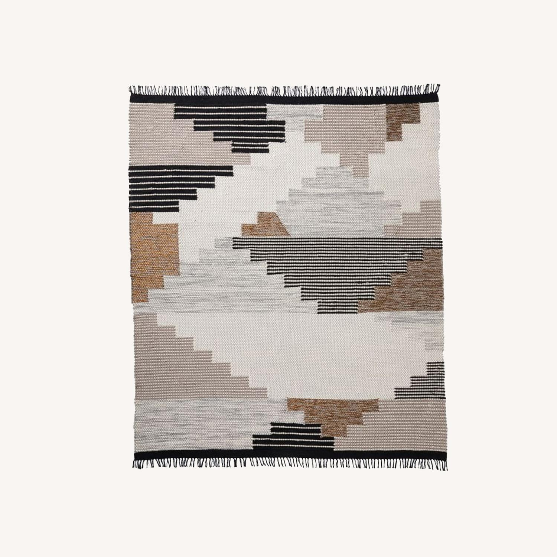 West Elm Colca Wool Rug, Flax, 5'x8' - image-0