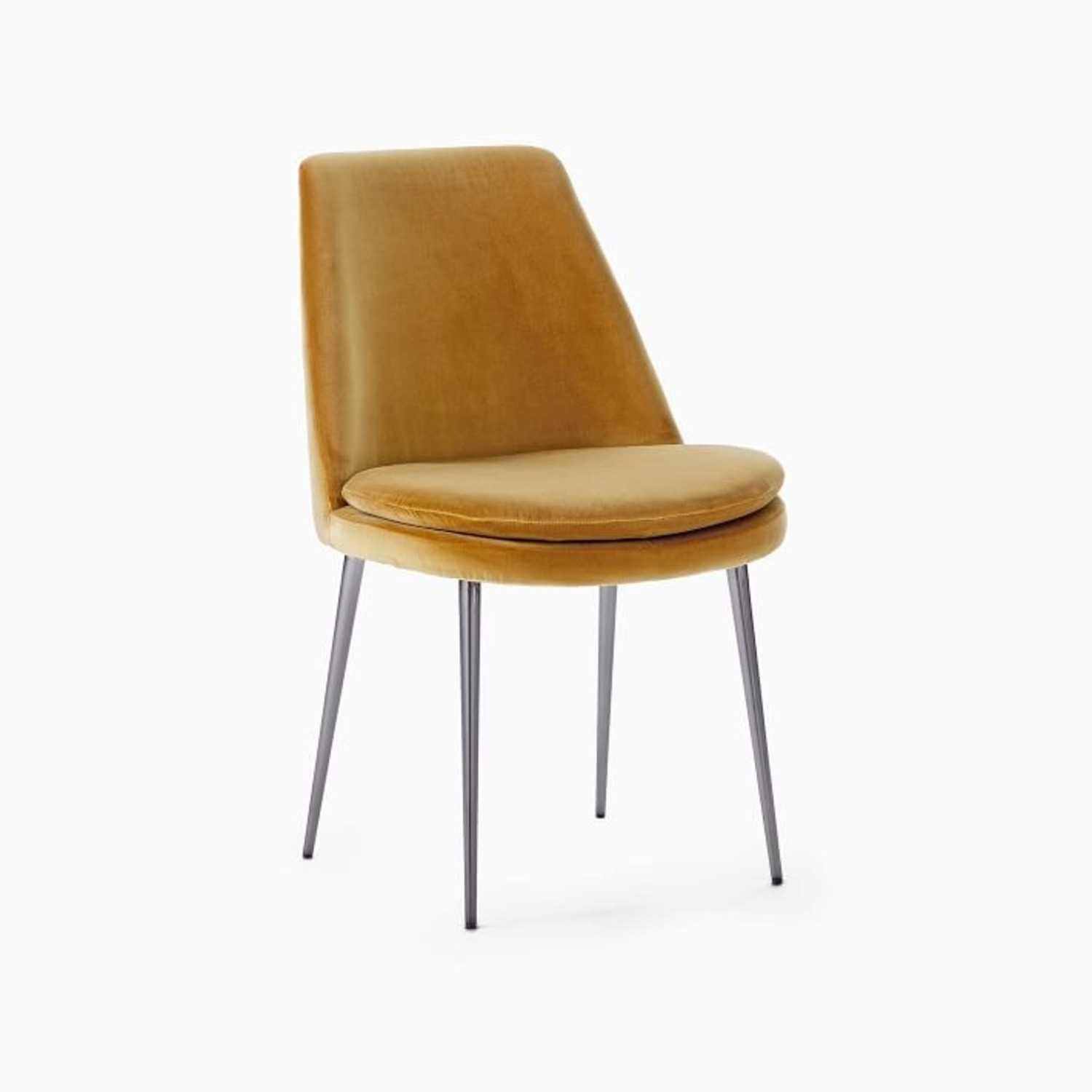 West Elm Finley Low-Back Upholstered Dining Chair - image-1