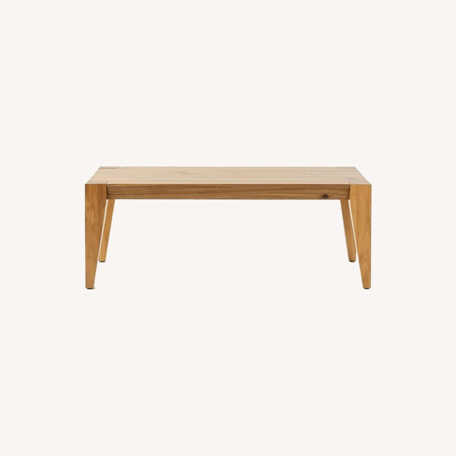 """West Elm Anderson Dining Bench 50"""" Acacia, Caramel - image-0"""