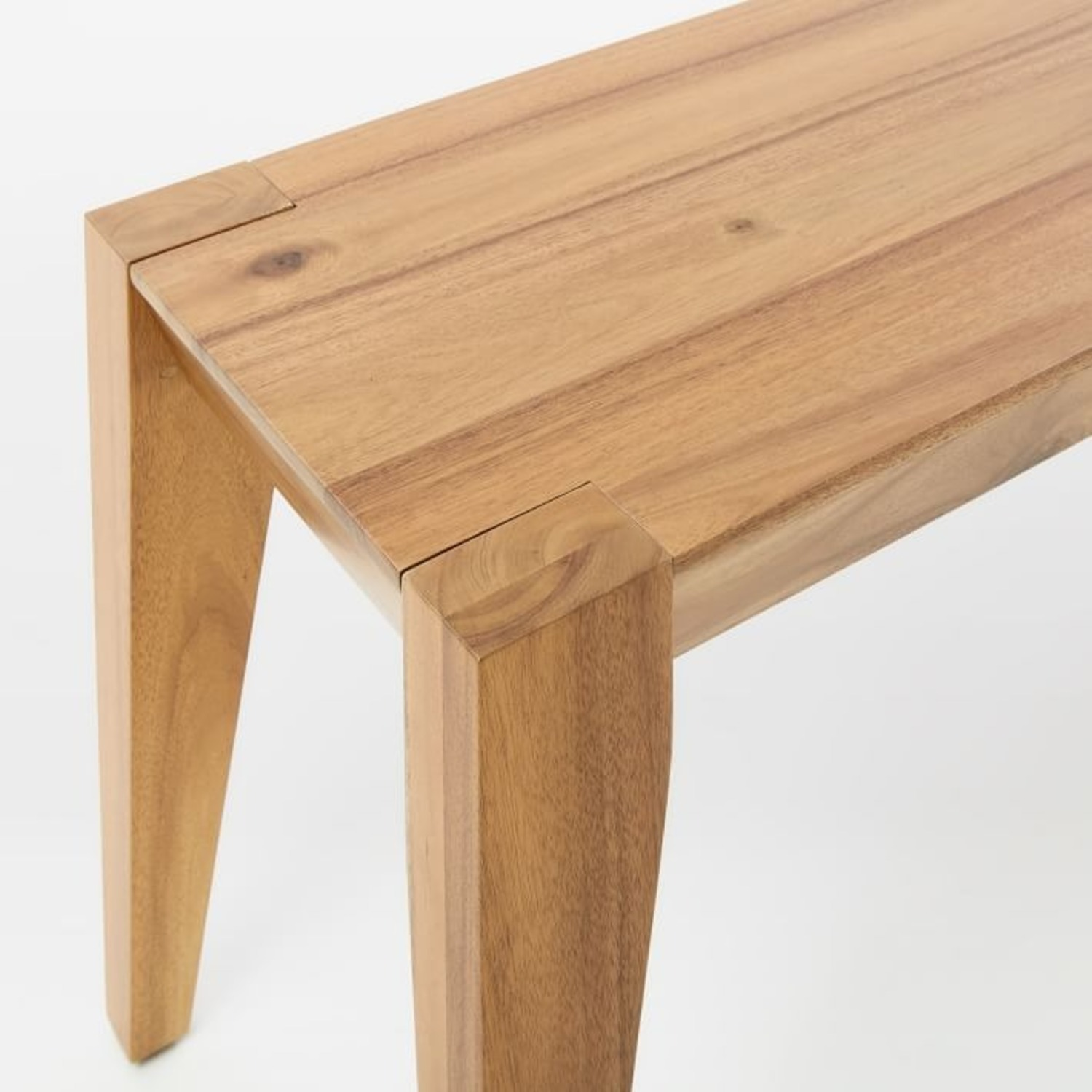 """West Elm Anderson Dining Bench 50"""" Acacia, Caramel - image-1"""