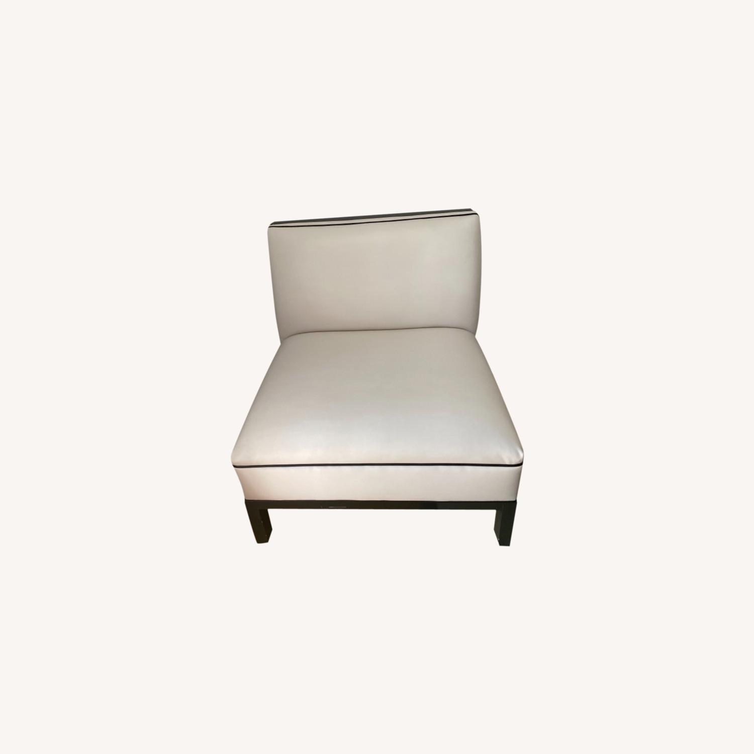 DucDuc Black and White Leather Chair - image-0