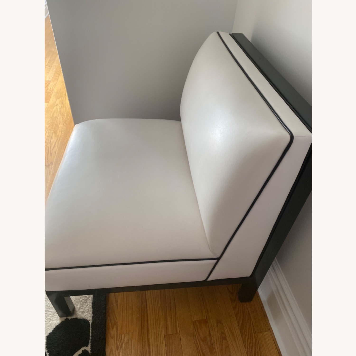 DucDuc Black and White Leather Chair - image-4