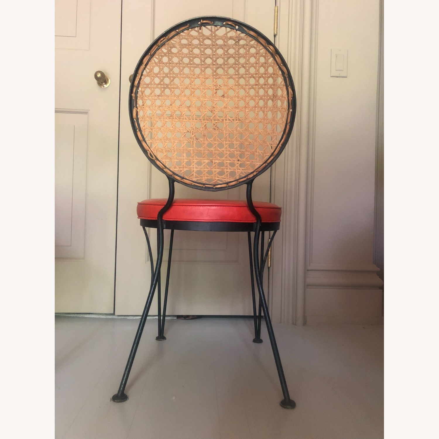 Vintage 1950s French Cane Chairs - image-1