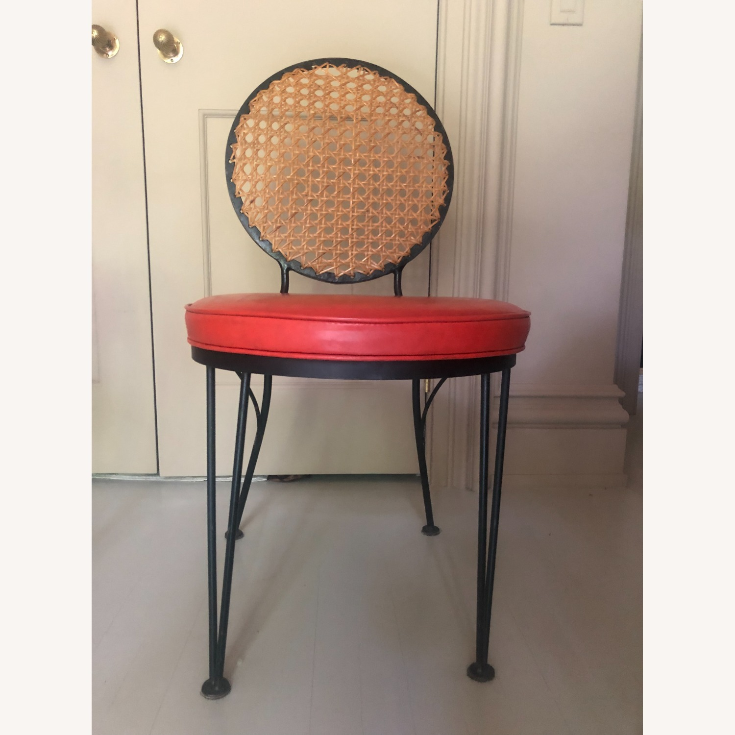 Vintage 1950s French Cane Chairs - image-0