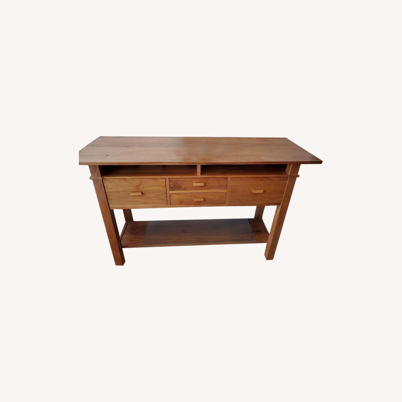 Room&Board Walnut Buffet/Console - image-0