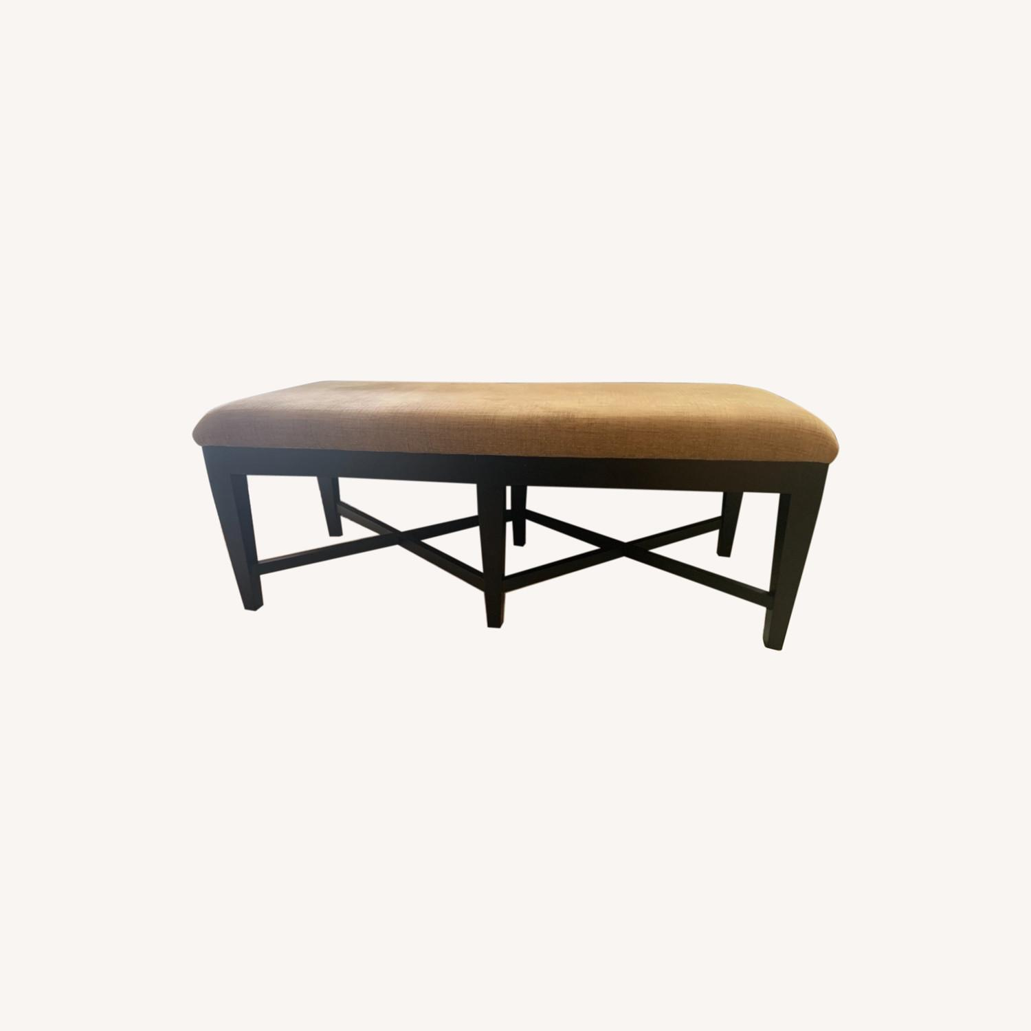 Bernhardt Wood and Chenille Bench - image-0