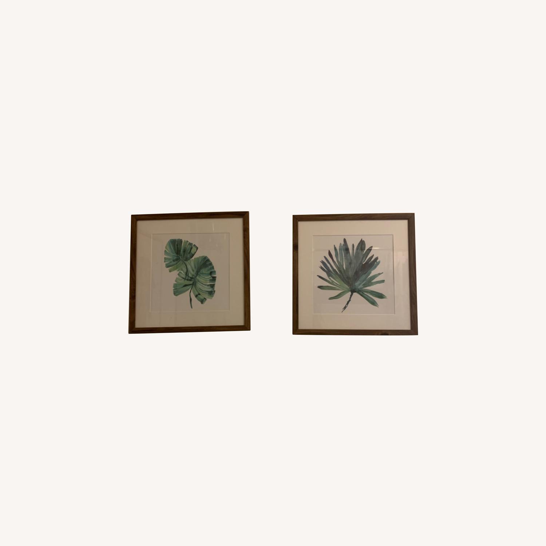 Set of Two Tropical Framed Prints - image-0