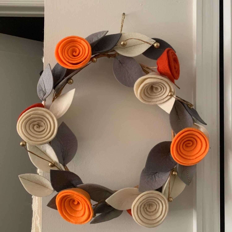 Faux Floral Wreath - image-1
