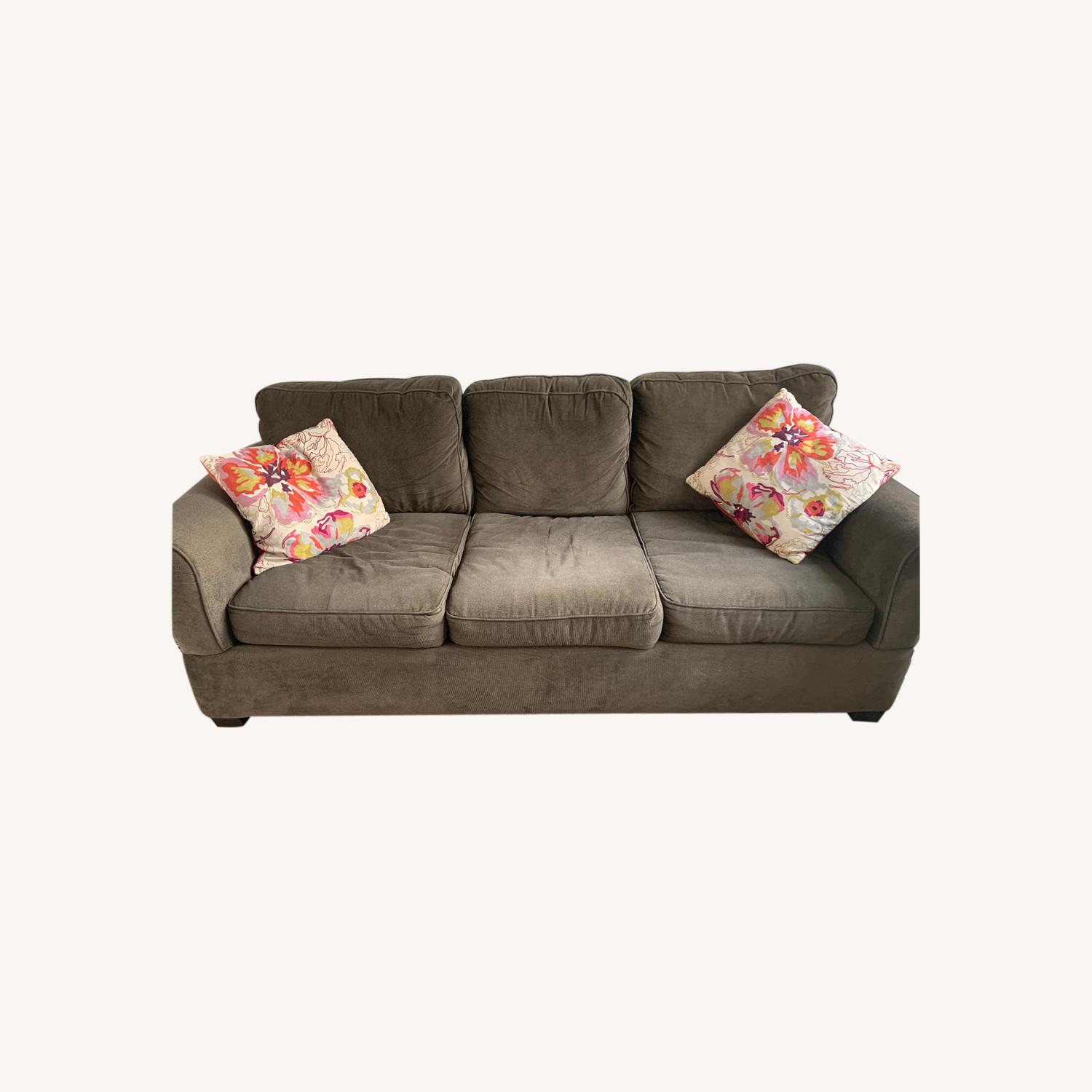 Jennifer Convertibles Comfy 3-Seater Couch - image-0