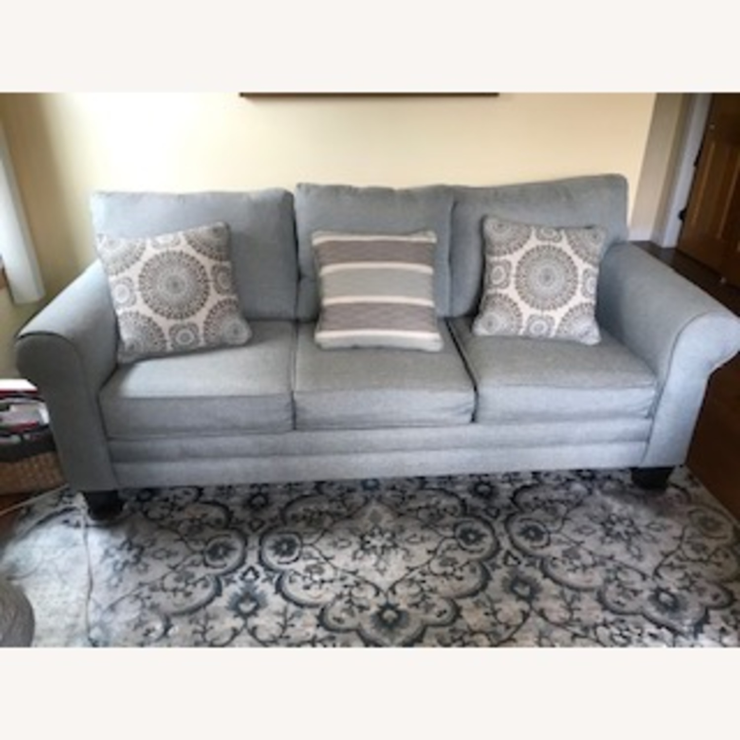 Wayfair Sedgley Rolled Armed Sofa with Reversible Cushion - image-4