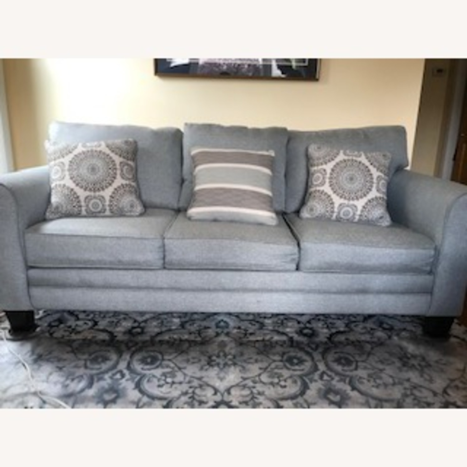 Wayfair Sedgley Rolled Armed Sofa with Reversible Cushion - image-1