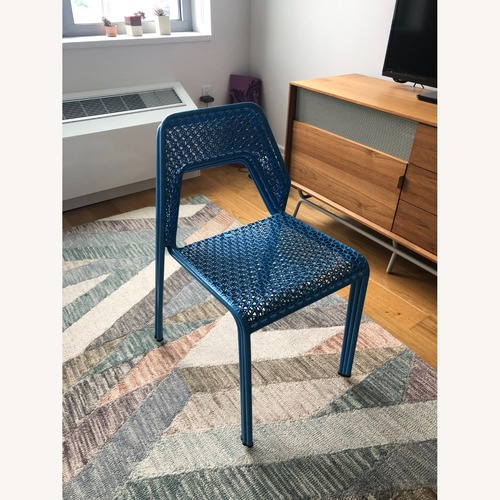 Used Blu Dot Hot Mesh Chairs in Simple Blue (Set of 4) for sale on AptDeco