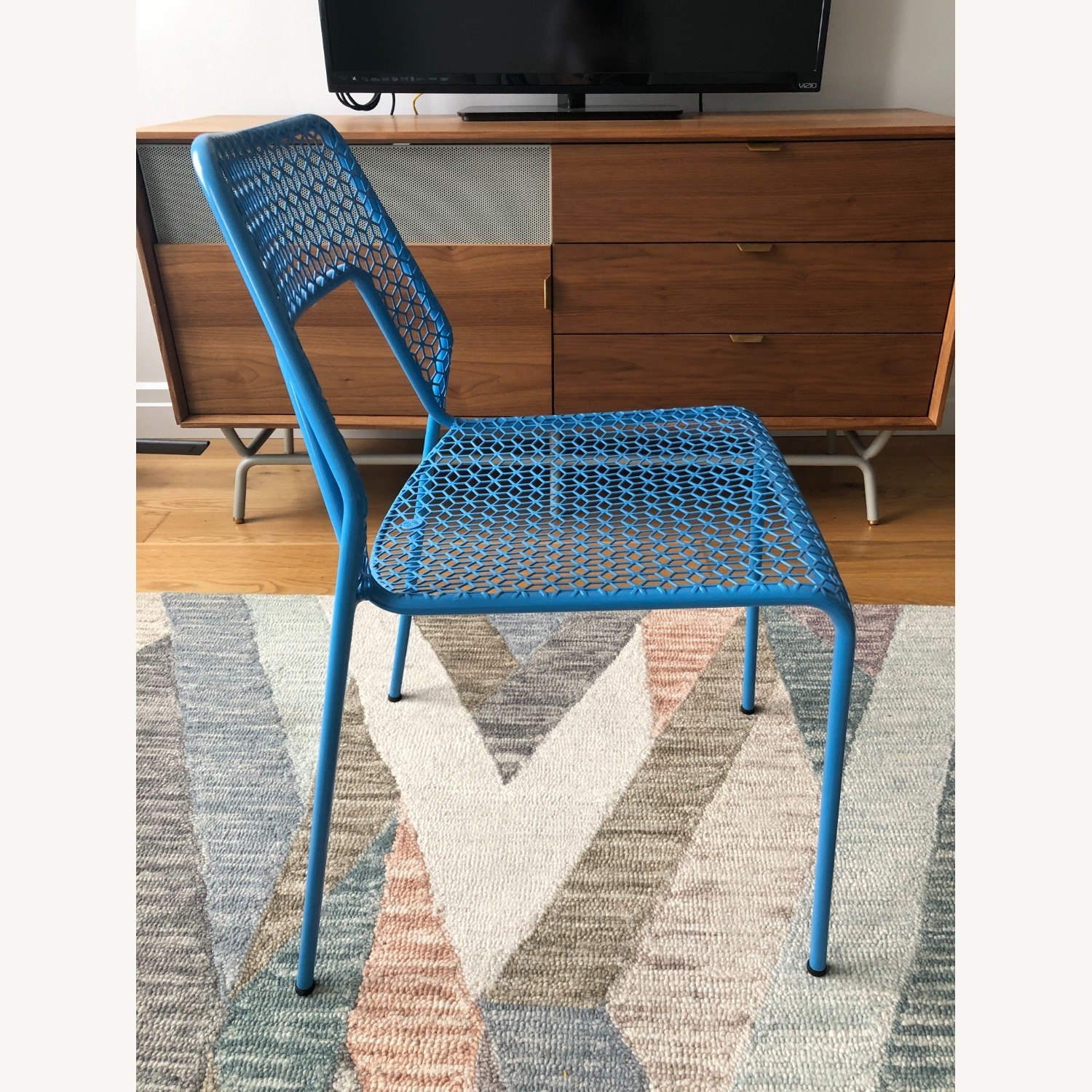 Blu Dot Hot Mesh Chairs in Simple Blue (Set of 4) - image-3