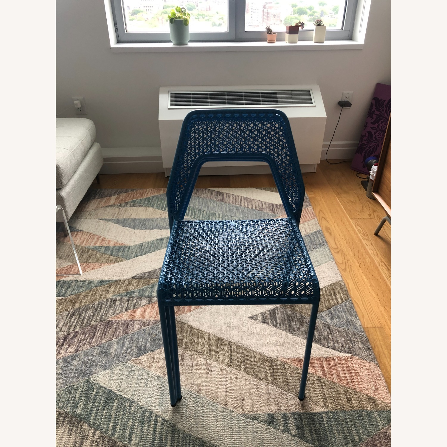 Blu Dot Hot Mesh Chairs in Simple Blue (Set of 4) - image-4